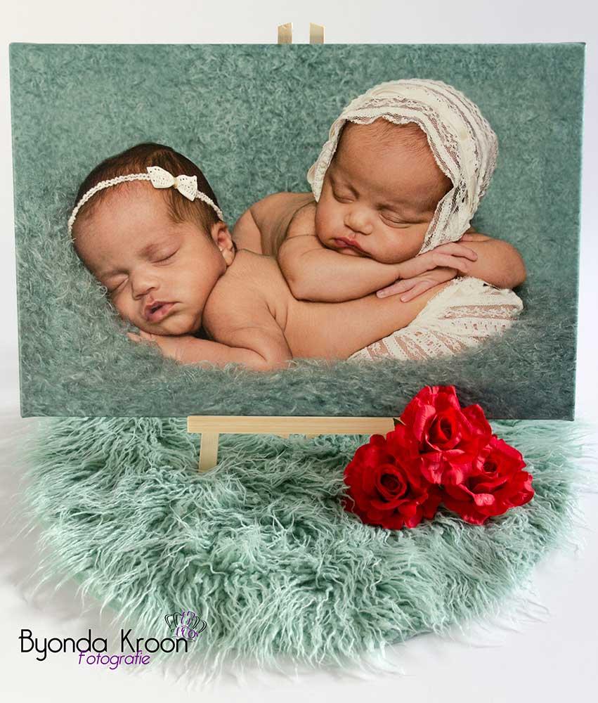 foto-op-canvas-tweeling-newborn-portret-fotografie-fotograaf-Maassluis
